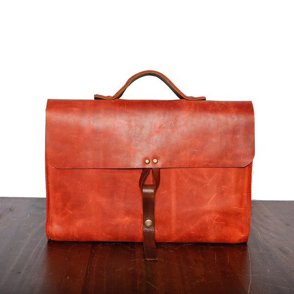 Handmade leather portfolio - Made in Mexico
