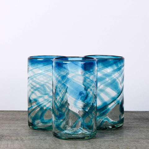 Mexican Hand Blown Drinking Glasses 2