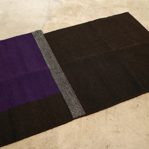 Black and Purple living room rug - Naturally dyed