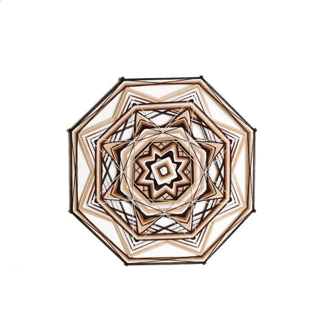 String Art  Eye of God - Waved mandalas brown