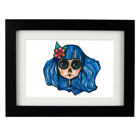Mixed Technique Mexican Illustrations - Azuera Frame