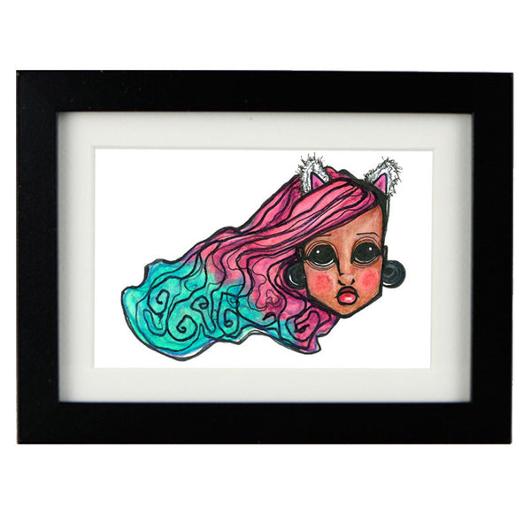 Mixed Technique Mexican Illustrations - Bunny Frame