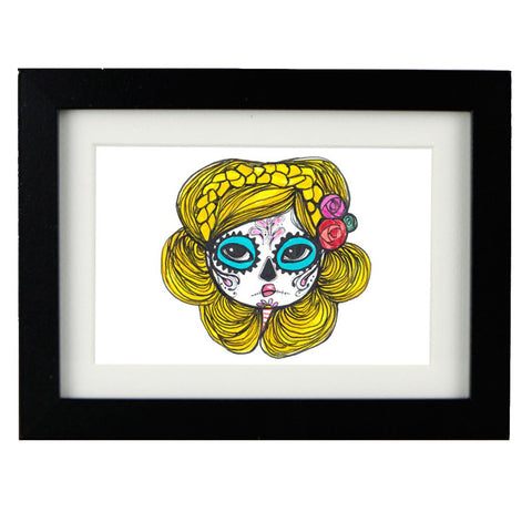 Mixed Technique Mexican Illustrations - Gizel Frame