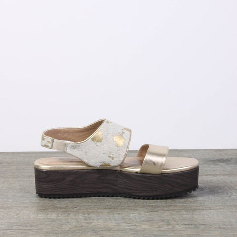 Summer Sale - Gold Leather Sandals