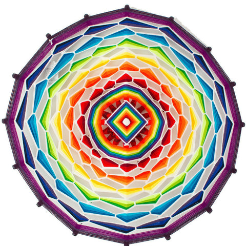 String Art Eye of God - Waved mandalas rainbow
