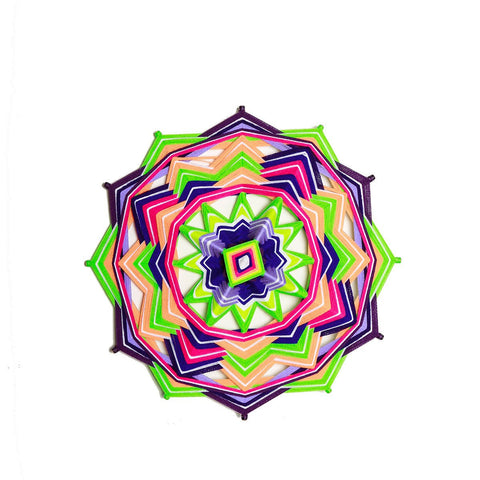 String Art  Eye of God - Waved mandalas Neon
