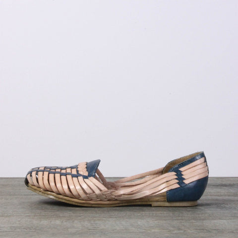 Leather Sandals - Mexico Blue