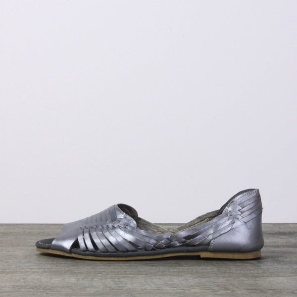 Women Leather Sandals - Mexico silver