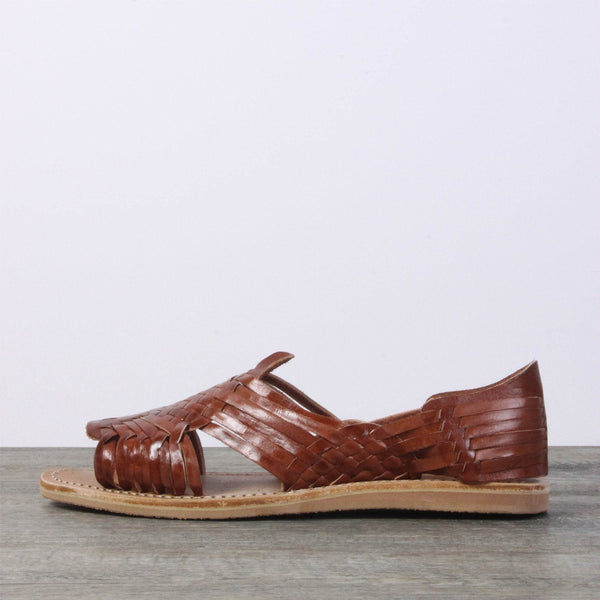 Men Leather Sandals - Mexico Brown