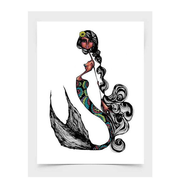 Mixed Technique Mexican Illustrations - Cordell Print