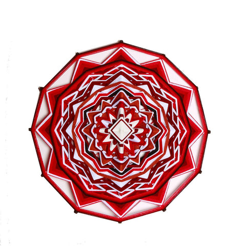 String Art  Eye of God - Waved mandalas Red