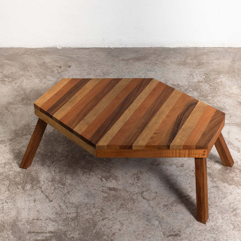 Folding Wood Coffee Table - Mixed Wood