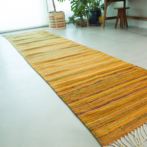 Yellow Striped Carpet - Made in Mexico