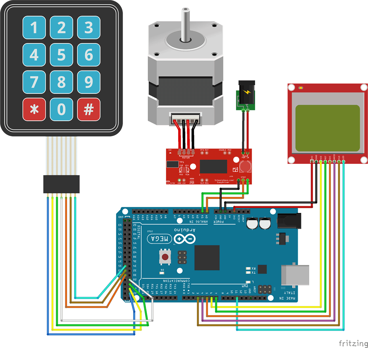 Arduino control stepper motor with keypad
