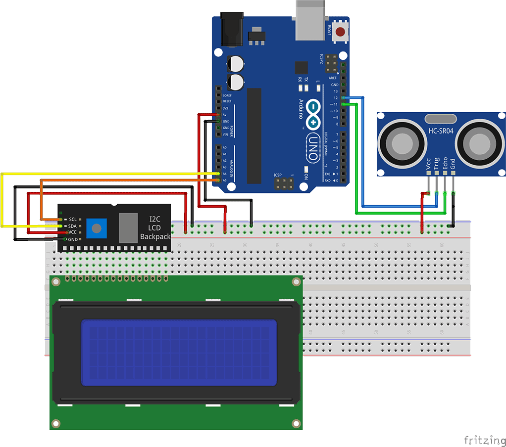 Connect character lcd with i2c bus