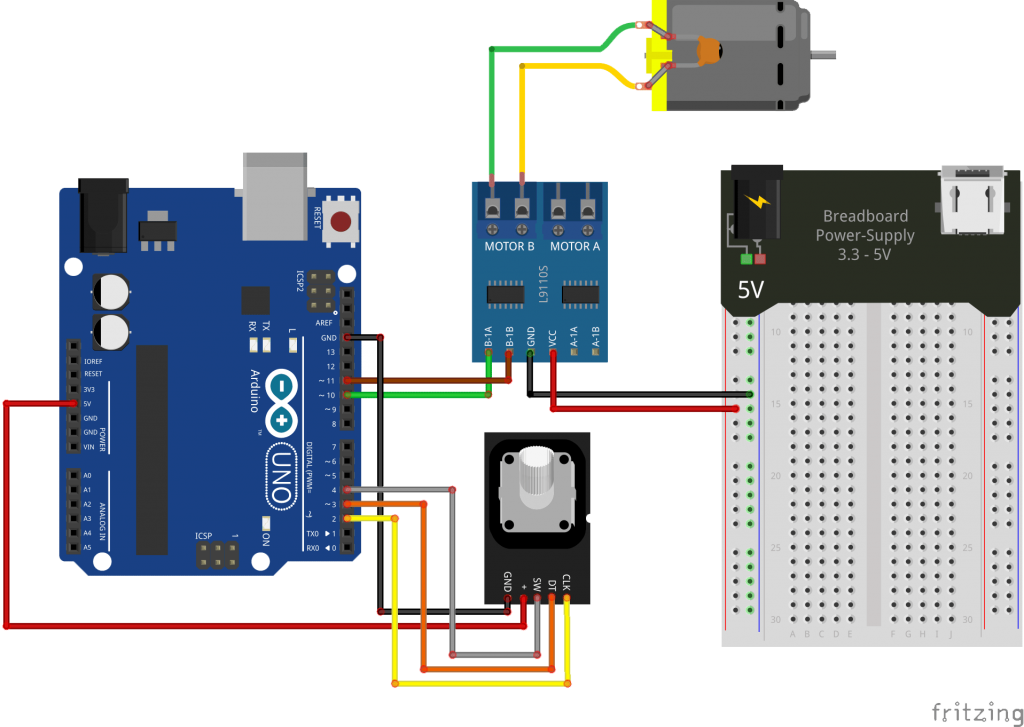 Control A Dc Motor With L9110s Rotary Encoder And Arduino