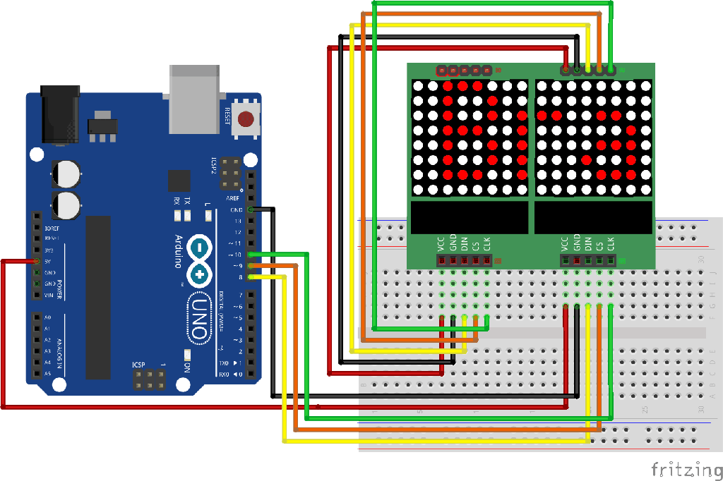 Max7219 dot matrix and arduino