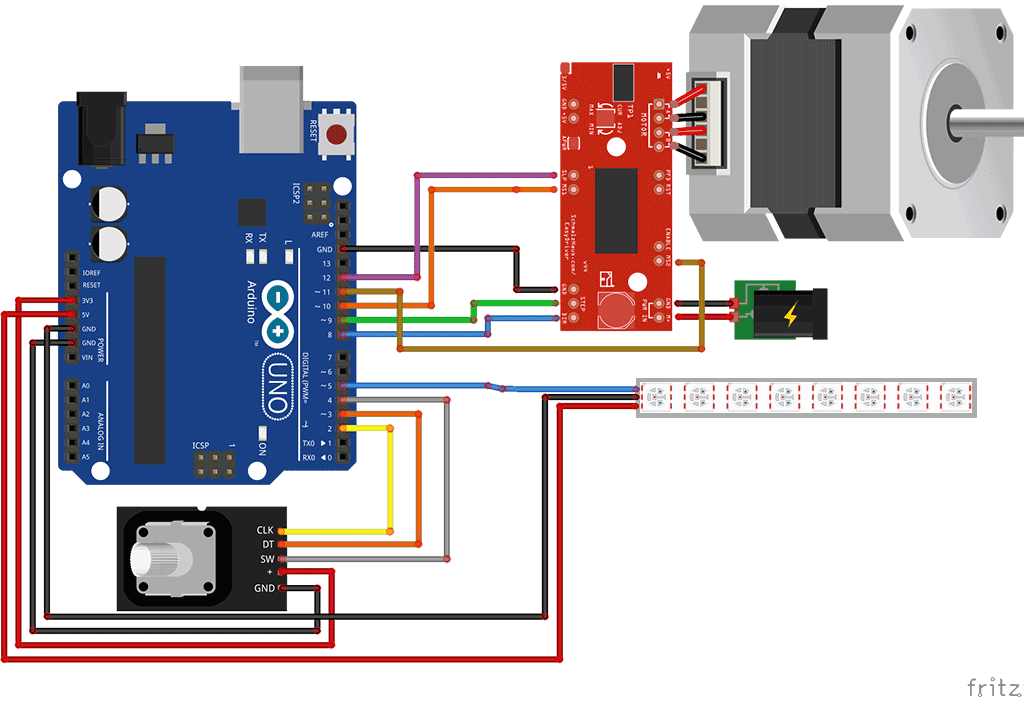 Nema stepper speed control with arduino and easy driver for Arduino encoder motor control