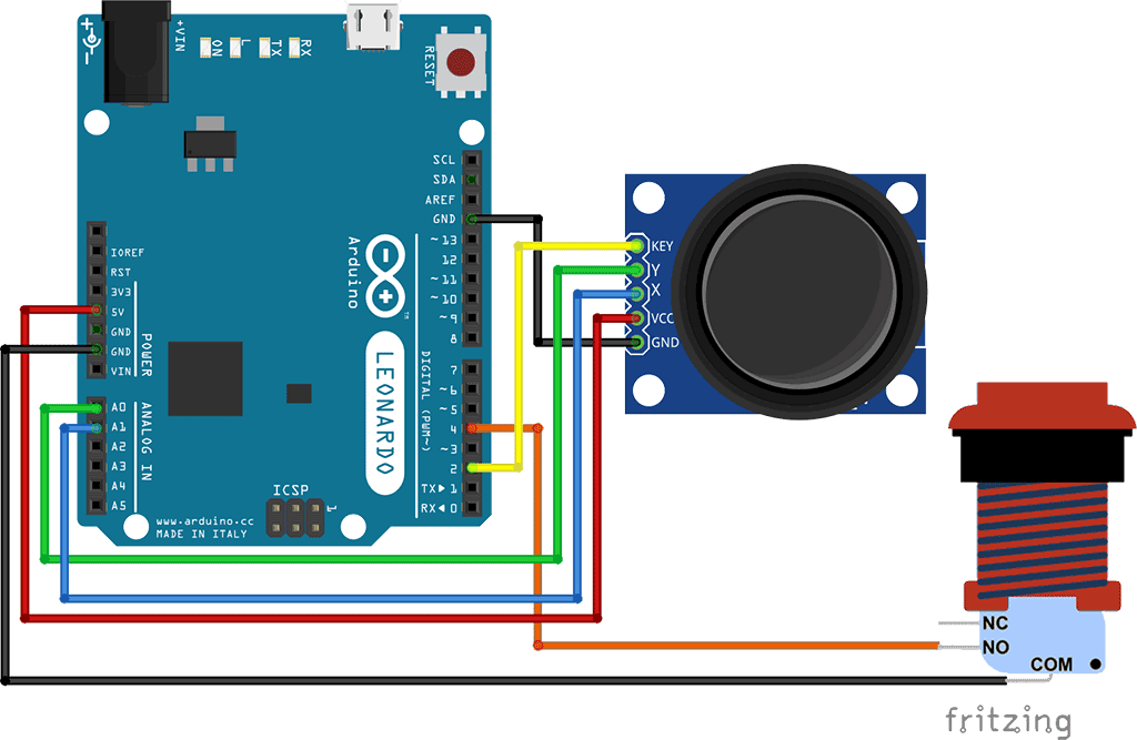 Arduino Analog Joystick PC Mouse