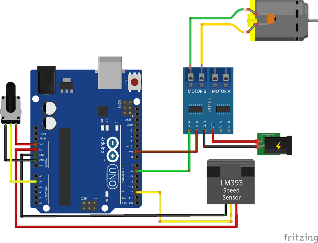 How to use a speed sensor with arduino brainy bits for Arduino encoder motor control