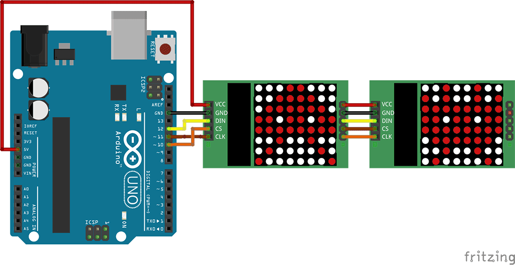 MAX7219 Dot Matrix with Arduino