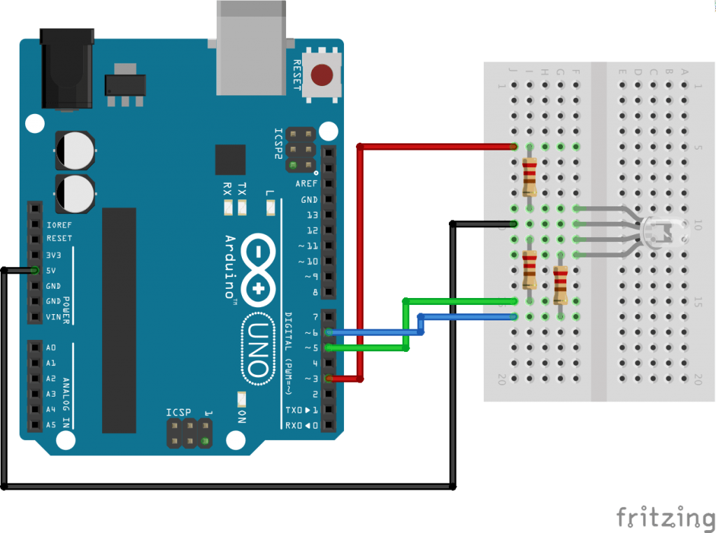 How to use and connect RGB LED with Arduino