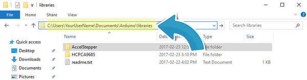 Arduino Library file location