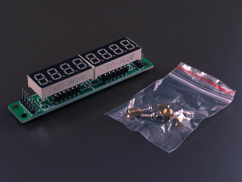 8 digits 7 segment Display (MAX7219 version)