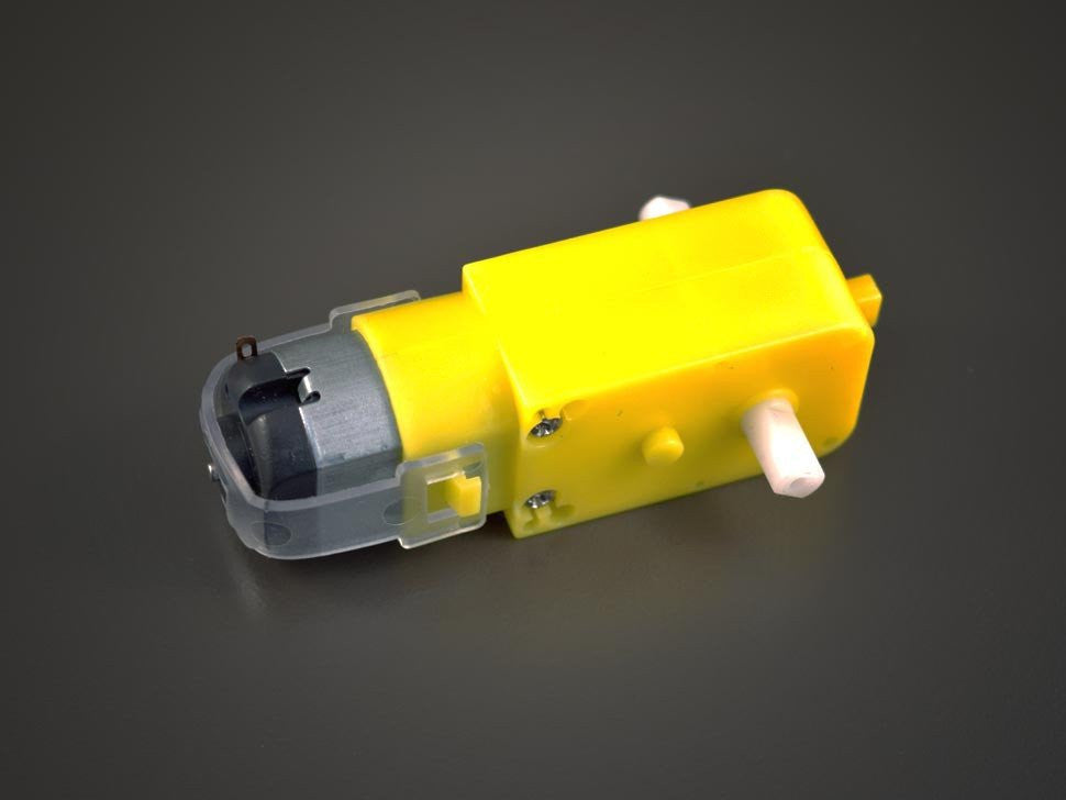 DC Motor with double shaft Gearbox 1:48