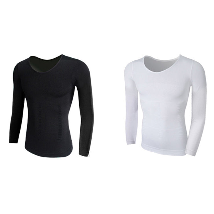 Slimming Body Shaper Long Sleeve T-shirt - The Natural Posture