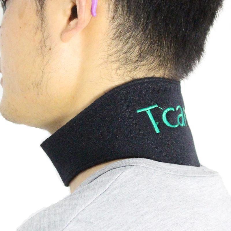 Tourmaline Self Heating Neck Brace Wrap with Magnets - The Natural Posture