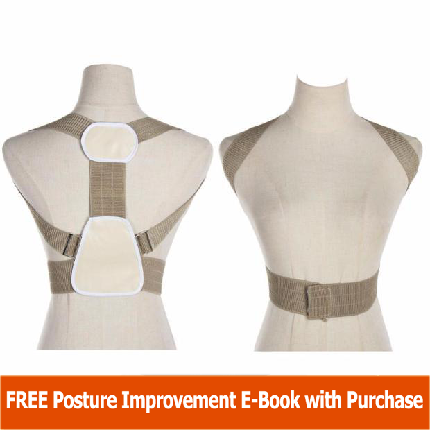 Adjustable Upper Back Posture Corrector - One Size Fits Most - The Natural Posture