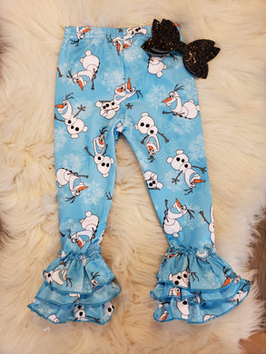 IN STOCK! Snowman Ruffle Pants