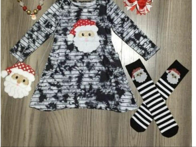 Preorder! Tie Dye Christmas Dress with Purse and Socks