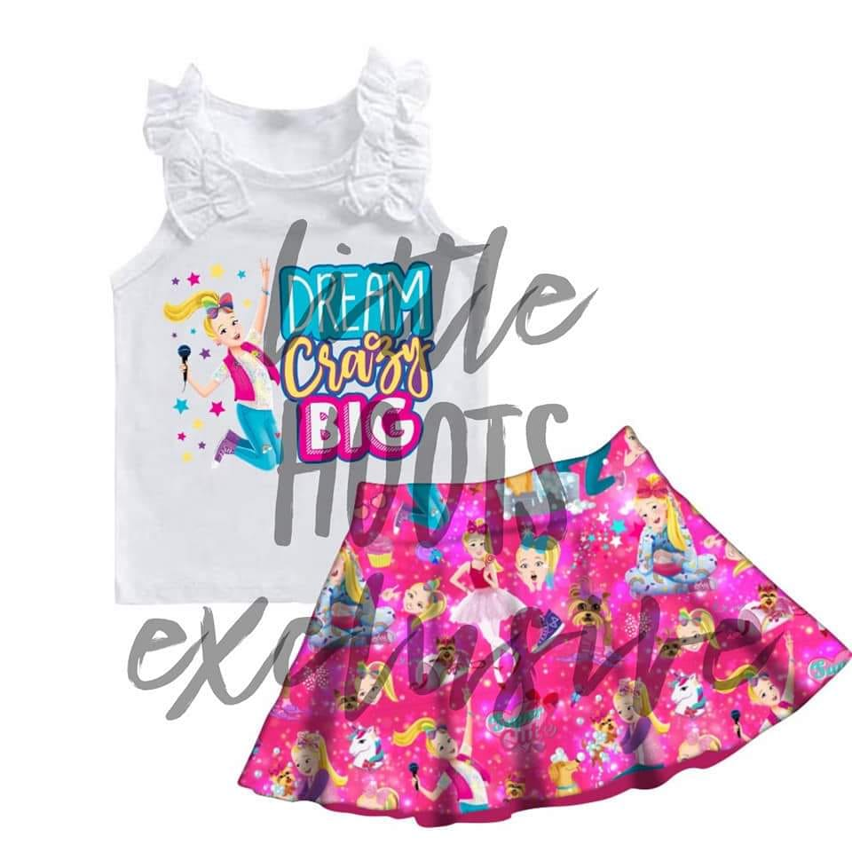 IN STOCK! Dream Big Skort Set