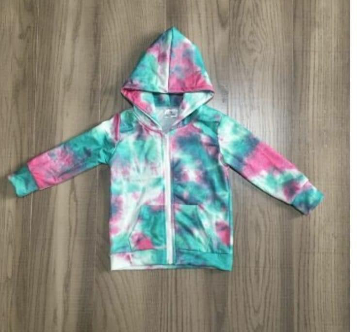 Preorder! Teal and Pink Zip Up