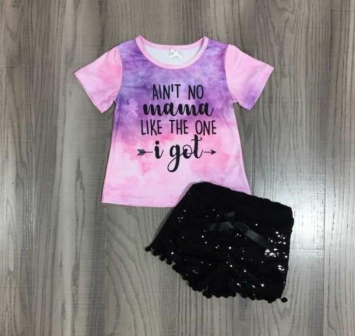 Preorder! Ain't No Momma Sequin Short Set