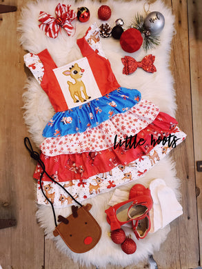 IN STOCK! Rudolph Ruffle Dress