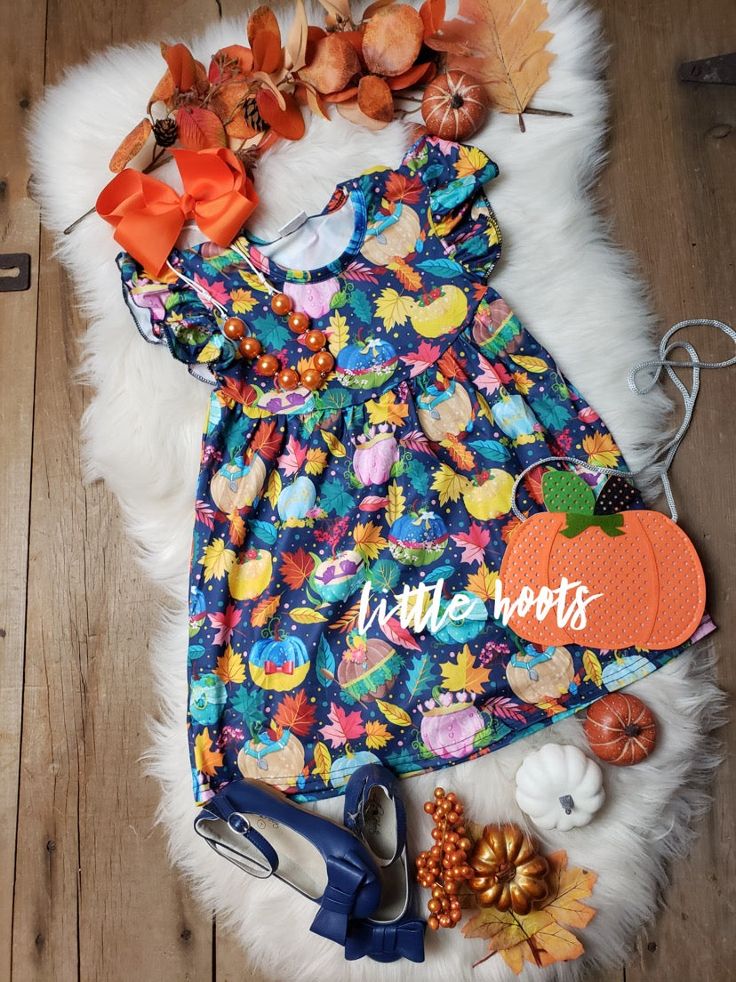 IN STOCK! Princess Pumpkins Pearl Flutter Dress