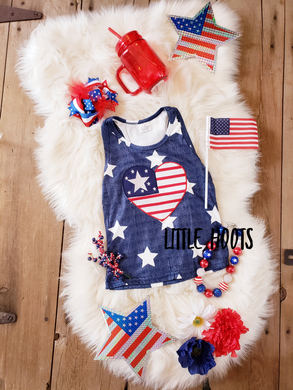 sale! IN STOCK! Patriotic at Heart Racer Back Tank