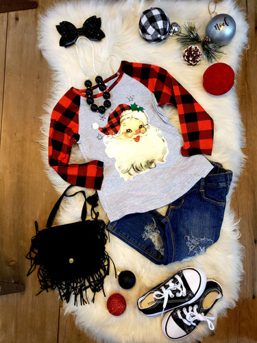 IN STOCK!  Vintage Santa Top