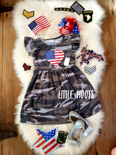 IN STOCK! God Bless The USA Knit Flutter Dress