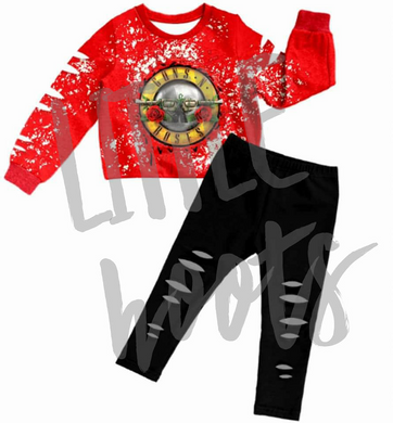 IN STOCK! Guns N Roses Distressed Band Set 5/6