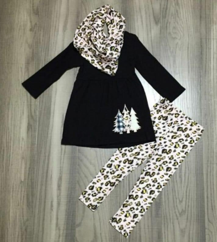 Preorder! Black and Gold Cheetah Tree 3 Piece Set