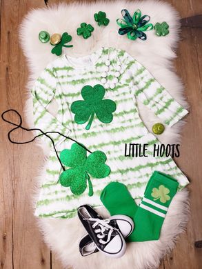 IN STOCK! Shamrock Pocket Dress