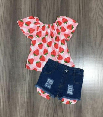 Preorder! Strawberry Denim Set