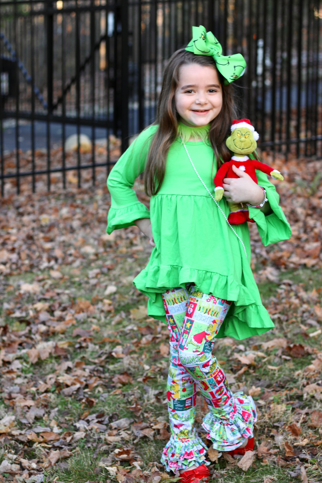 IN STOCK! Grinch Ruffle Pants