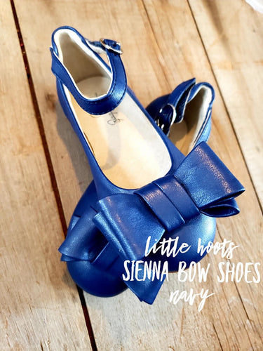 sale! IN STOCK! Sienna Bow Shoes-Navy
