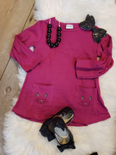 sale! IN STOCK! Cheetah Kitty Pocket Tunic