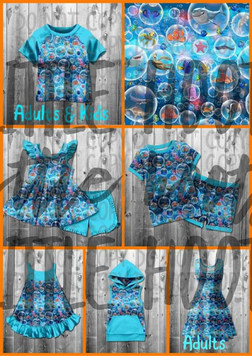 IN STOCK! Fishy Bubbles Dress